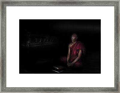 Myanmar - Meditation Framed Print