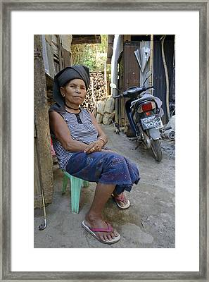 Myanmar Portrait Framed Print