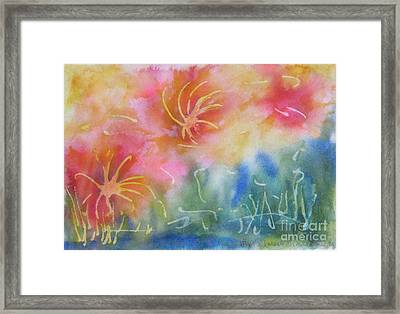 Mya's Garden Framed Print