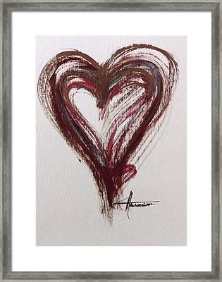 Myeloma Awareness Heart Framed Print
