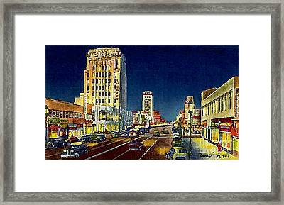 Myer- Siegel Department Store And The Miracle Mile In Los Angeles Ca Around 1940 Framed Print