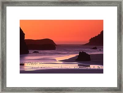 Myers Creek Sunset Framed Print