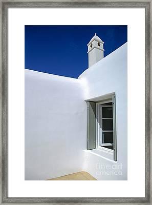 Mykonos Abode Framed Print