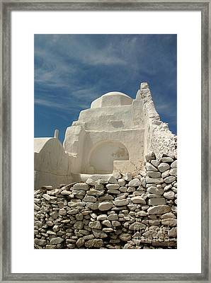 Framed Print featuring the photograph Mykonos Church by Vivian Christopher
