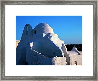 Framed Print featuring the photograph Mykonos Island Greece by Colette V Hera  Guggenheim