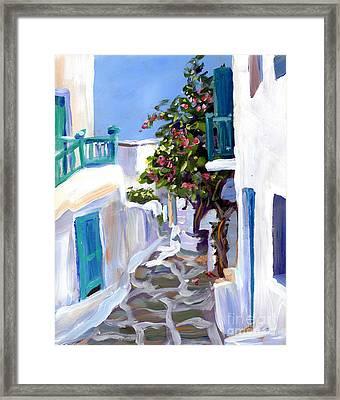 Mykonos Passages Framed Print by Valerie Freeman