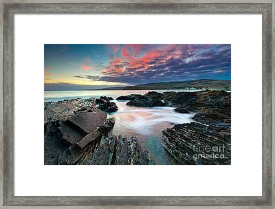Myponga Beach Sunrise Framed Print by Bill  Robinson