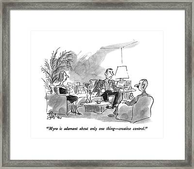 Myra Is Adamant About Only One Thing - Creative Framed Print
