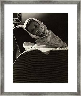 Myrna Loy In The Great Ziegfeld Framed Print by Edward Steichen