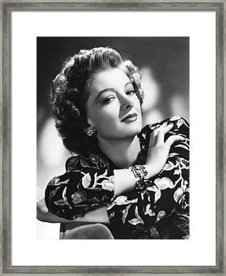 Myrna Loy, Mgm Portrait, 1940s Framed Print