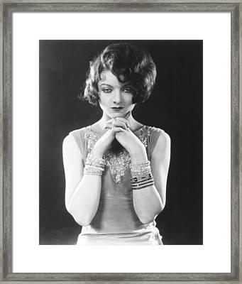 Myrna Loy, Warner Bros. Portrait, Late Framed Print by Everett