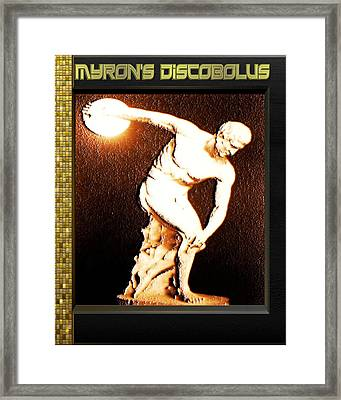 Myron's Diskobolus Framed Print by Museum Quality Prints -  Trademark Art Designs