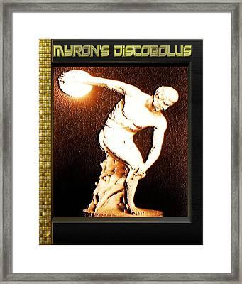Myron's Diskobolus Framed Print by Museum Quality Prints -  Trademark Art Designs