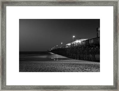 Myrtle Beach 2nd Ave Pier At Night II Framed Print