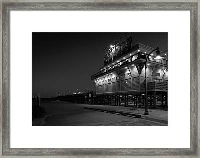 Myrtle Beach 2nd Ave Pier At Night Framed Print
