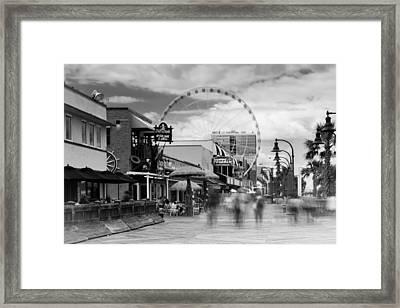 Myrtle Beach Board Walk Framed Print