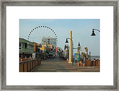 Myrtle Beach Boardwalk Framed Print by Suzanne Gaff