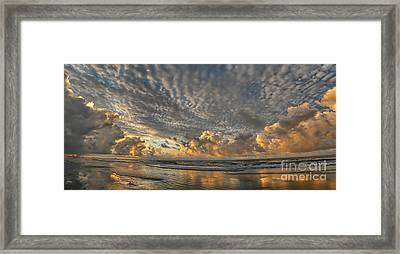 Myrtle Beach Panorama 2 Framed Print by Jeff Breiman