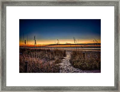 Myrtle Beach Path Framed Print