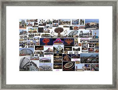 Myrtle Beach Pavilion Collage Framed Print
