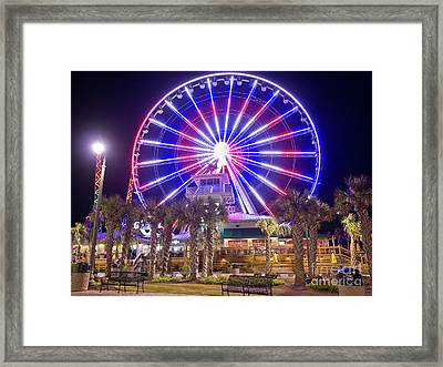 Myrtle Beach Sky Wheel Framed Print