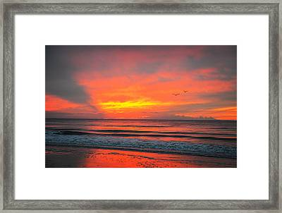 Myrtle Beach Sunrise Framed Print by Mary Timman