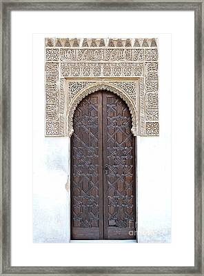 Myrtle Doorway Framed Print by Marion Galt