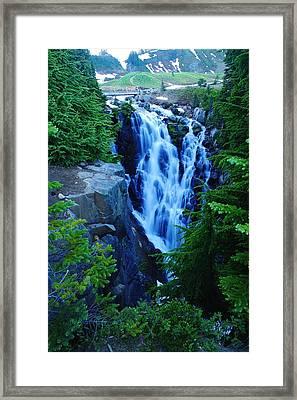 Myrtle Falls Framed Print by Jeff Swan