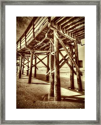 Myrtle Pier  Framed Print by Mark Hazelton