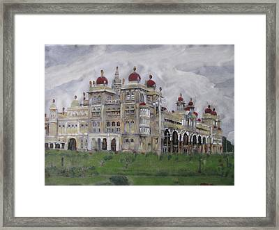 Framed Print featuring the painting Mysore Palace by Vikram Singh