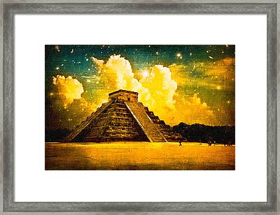 Mysteries Of The Ancient Maya - Chichen Itza Framed Print by Mark E Tisdale