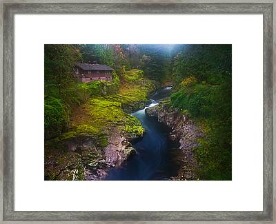 Mysteries Of The Lewis House Framed Print by Darren  White