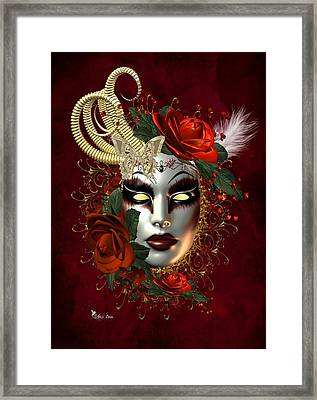 Mysteries Of The Mask 2 Framed Print