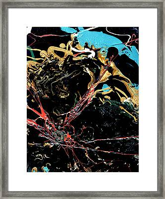 Mysteries Of The Sea A  Abstract Framed Print by John Samsen