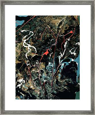 Mysteries Of The Sea B  Large Abstract Framed Print by John Samsen