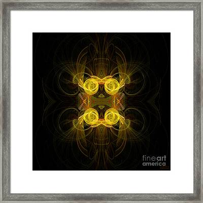 Framed Print featuring the digital art Mysterious Energy by Hanza Turgul