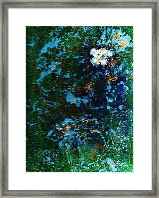 Mysterious Flower Under The Sea Framed Print by Anne-Elizabeth Whiteway