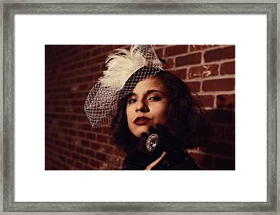 Mysterious Hispanic Beauty  Framed Print