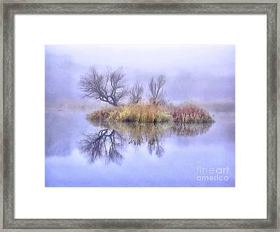 Mysterious Lake 1 Framed Print by GabeZ Art