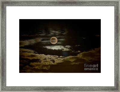 Mysterious Moon Framed Print by Boon Mee