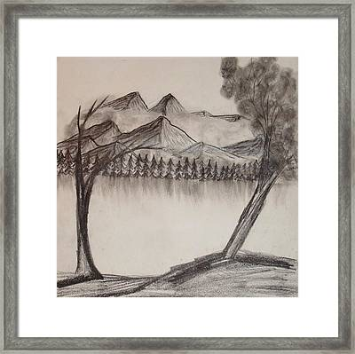 Mysterious Mountains Framed Print by Homayra A Elsayed