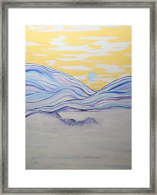 Mysterious North Framed Print by Kathy Peltomaa Lewis