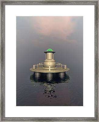 Mysterious Structure Framed Print