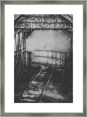Mysterious Train Tracks Framed Print by Melanie Lankford Photography