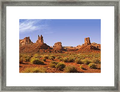 Mysterious Valley Of The Gods Framed Print by Christine Till