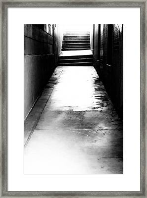 Mysterious Walkway Framed Print by Shelby  Young