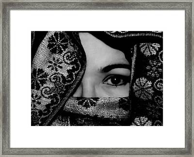 Mysterious Woman Framed Print