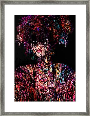 Mysterious Woman Framed Print by Natalie Holland