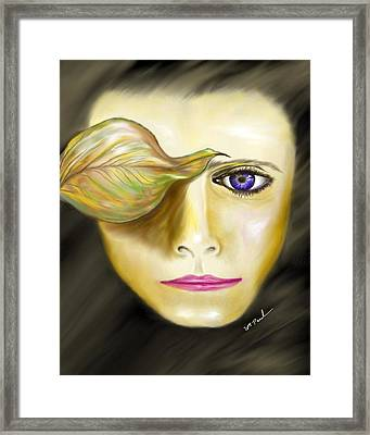 Mysterious Woman Framed Print by William  Paul Marlette