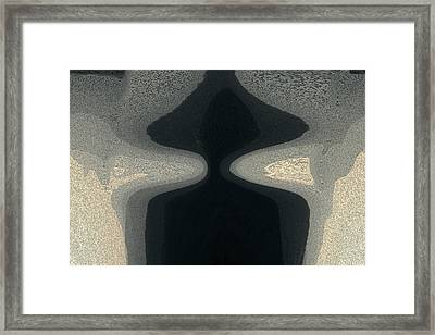 Mysterious Woman With The Black Hat Framed Print